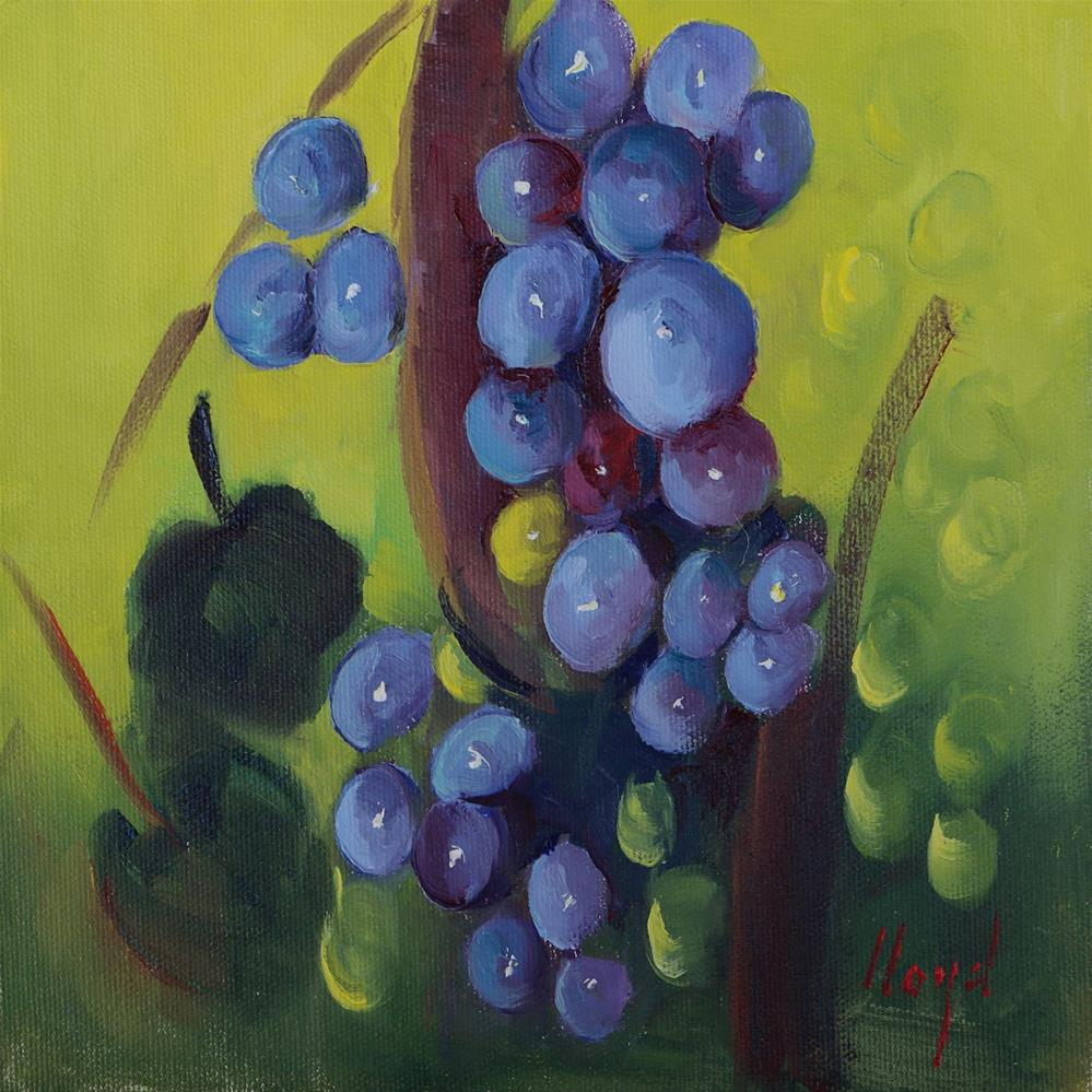 """I Love Painting Grapes"" original fine art by Diane Lloyd"
