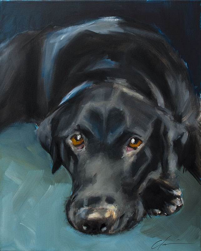 """Bogey Commission"" original fine art by Clair Hartmann"