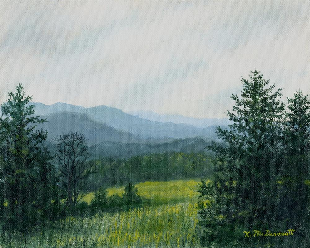 """Blue Ridge Mountain Meadow - After the Rain"" original fine art by Kathleen McDermott"