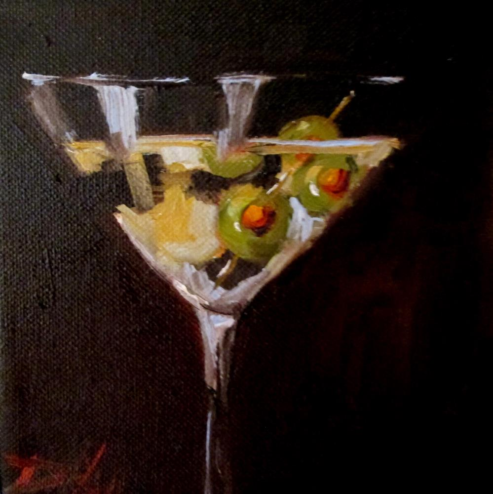 """Martini and Olives No. 3"" original fine art by Delilah Smith"