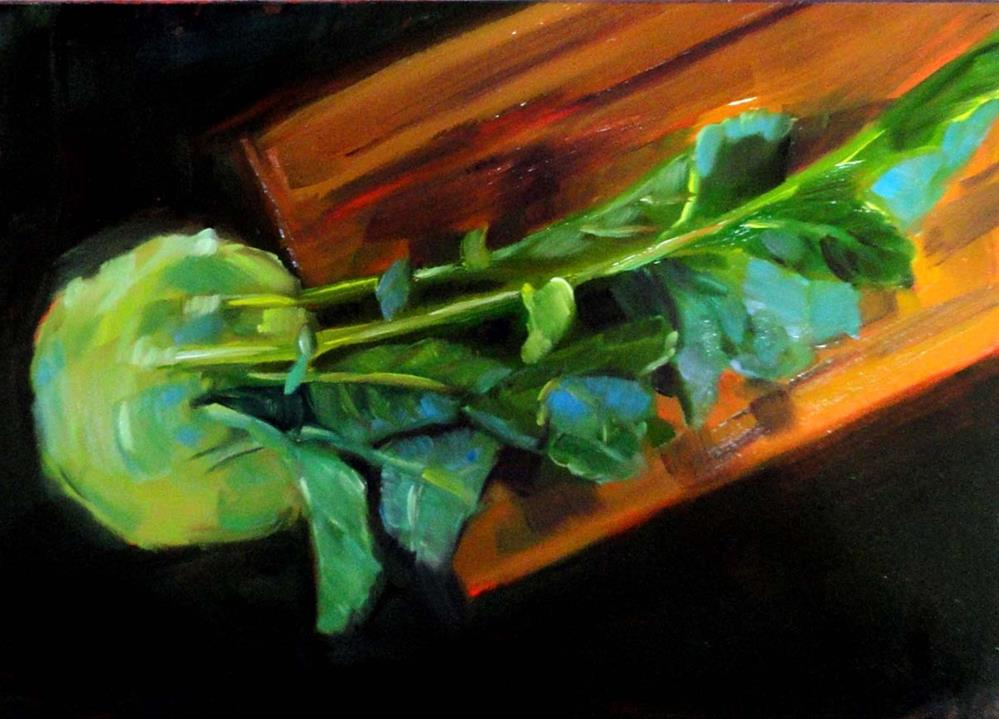 """One Weird Vegetable (Kohlrabi)"" original fine art by Cietha Wilson"
