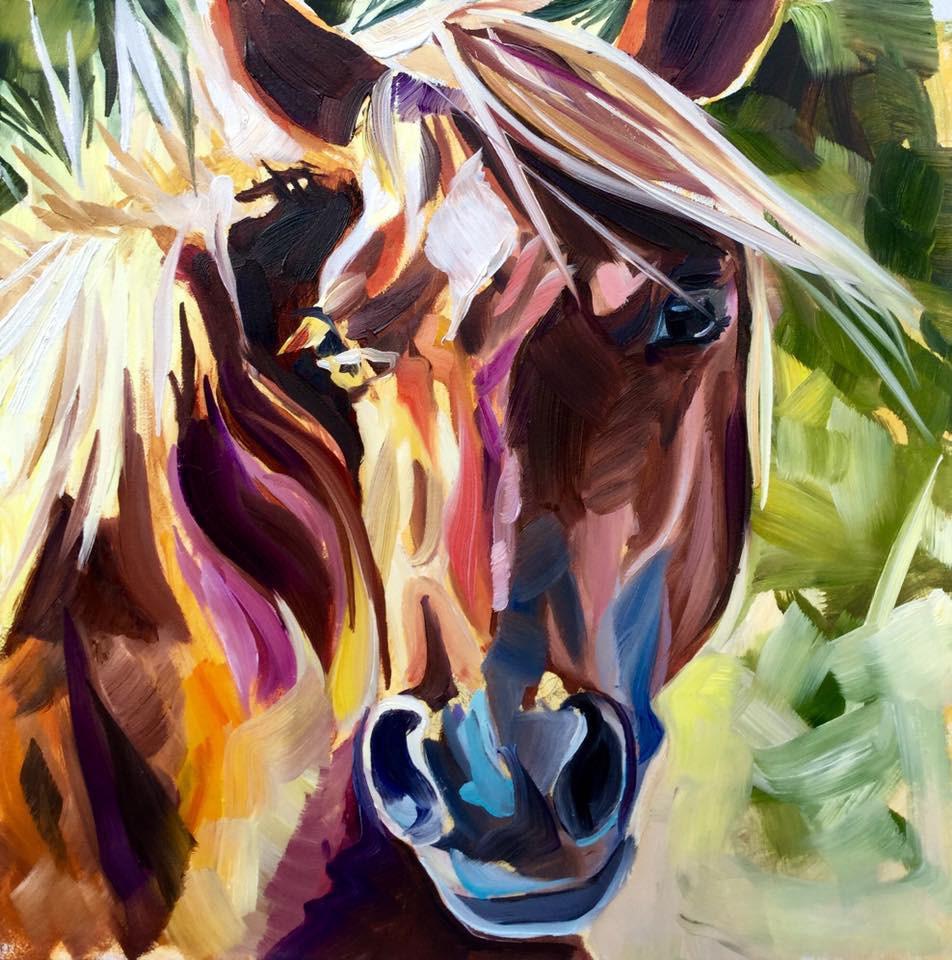 """Terra Ciea"" original fine art by Lauren Kuhn"