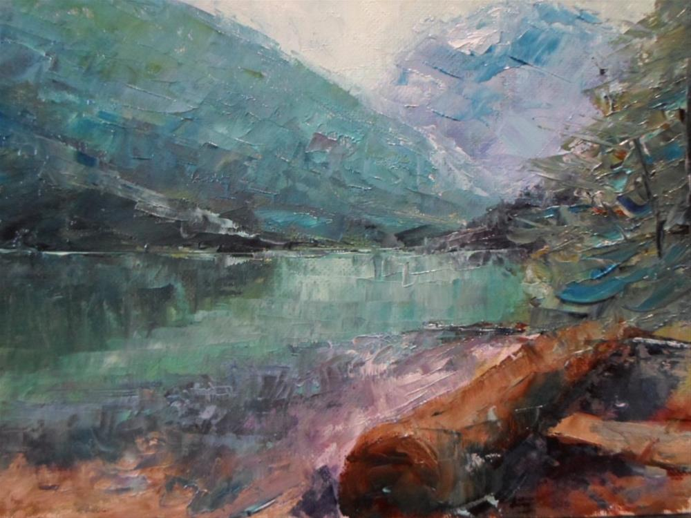 """Mountain Lake"" original fine art by Linda Yurgensen"