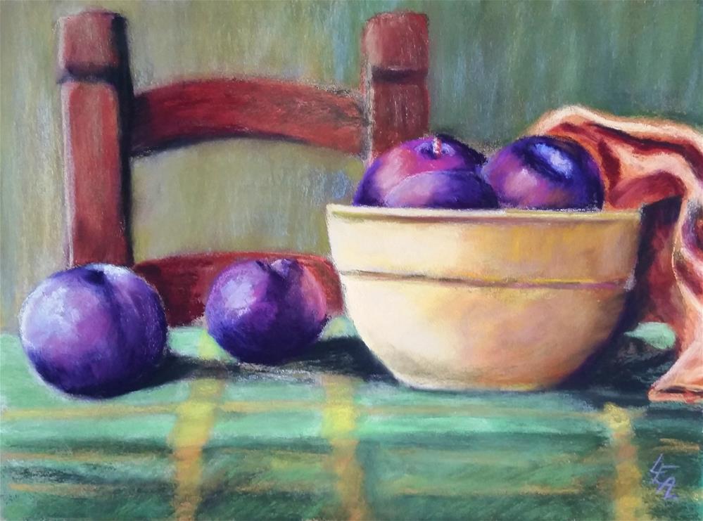 """""""Summer Plums"""" original fine art by Anna Lisa Leal"""