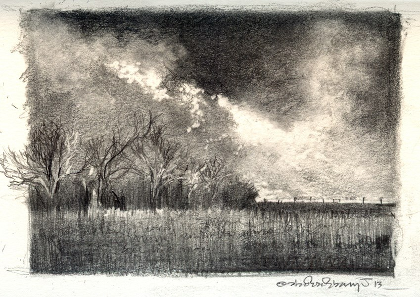 """Dramatic Landscapes 2"" original fine art by Adebanji Alade"