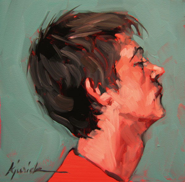"""100 Faces, No. 75"" original fine art by Karin Jurick"