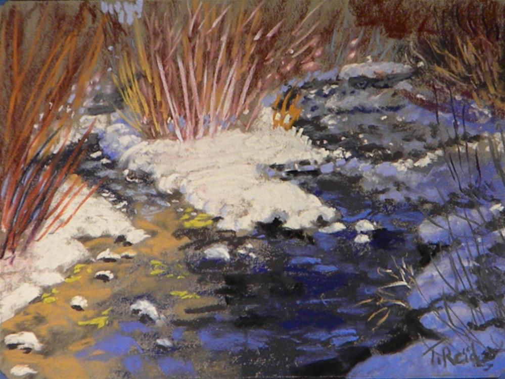 """Snow on twin creek"" original fine art by Toby Reid"