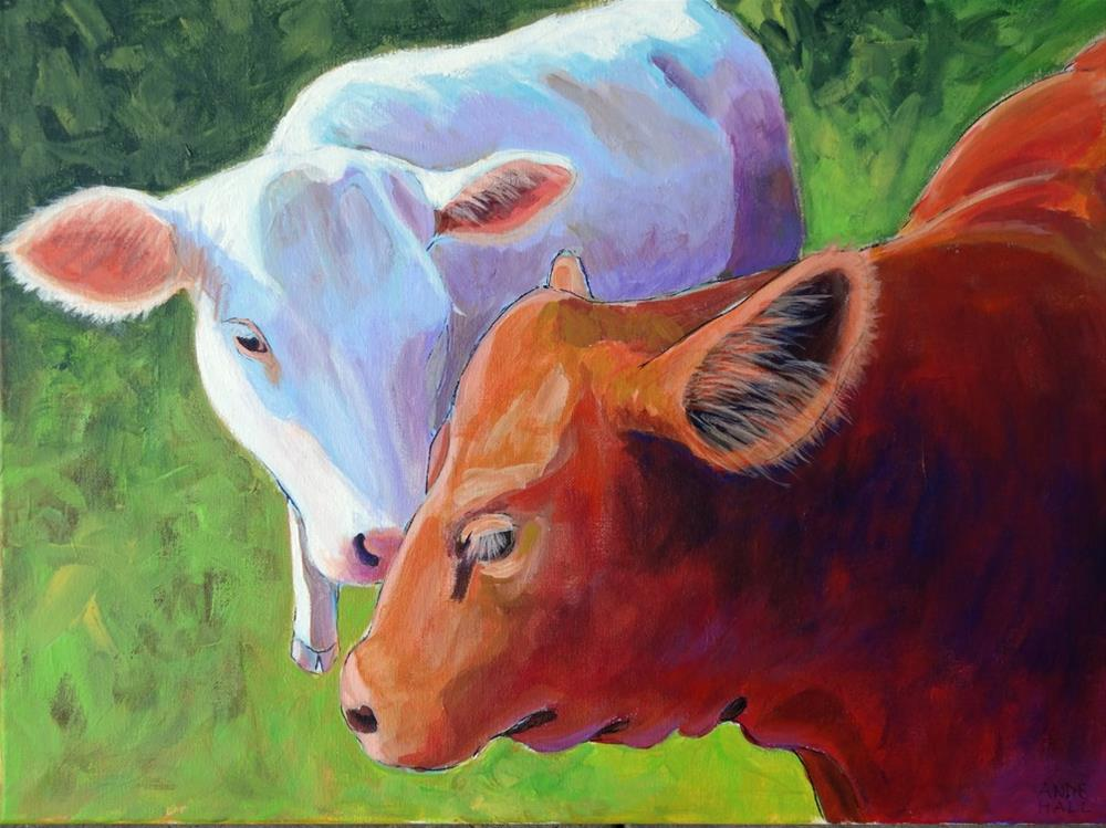 """Girl Talk"" original fine art by Ande Hall"
