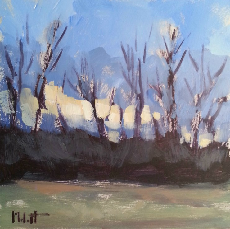"""Plein Air Spring Landscape Original Impressionism  Oil Painting"" original fine art by Heidi Malott"