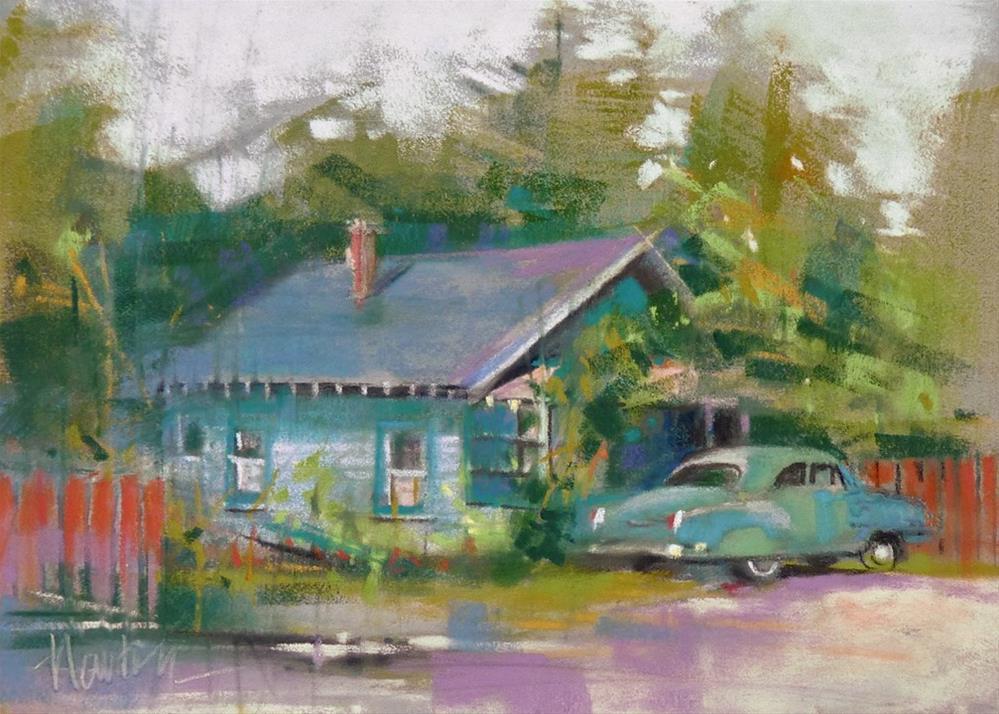 """Blue House"" original fine art by Barbara Benedetti Newton"