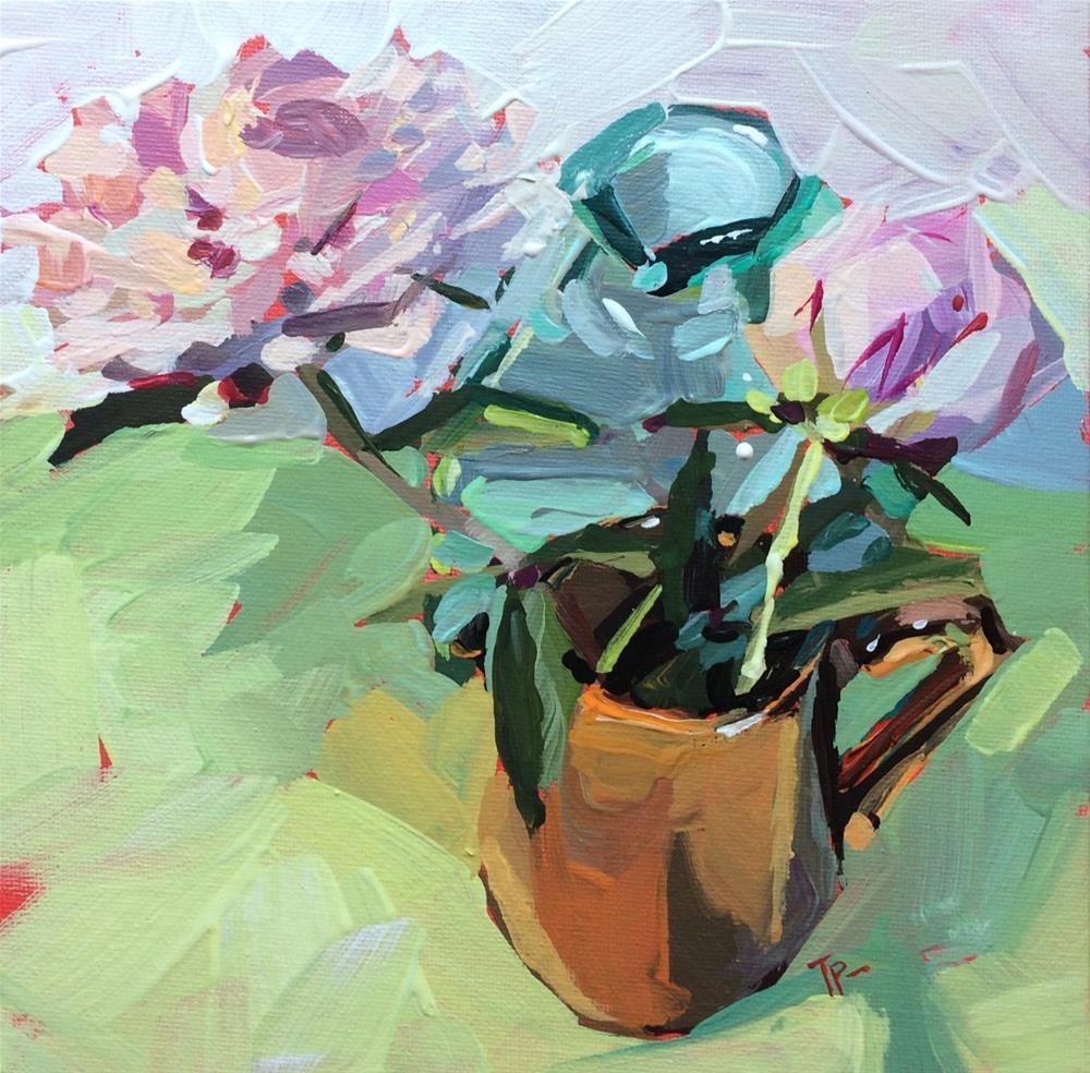 """Proud Peonies"" original fine art by Teddi Parker"