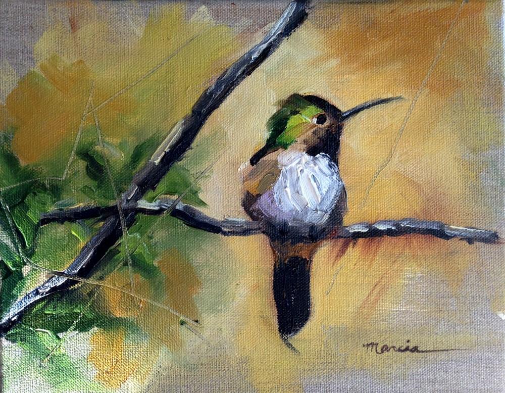 """Contemplating Leaving"" original fine art by Marcia Hodges"