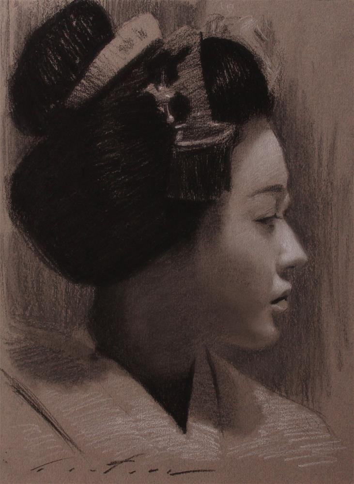 """Katsunosuke in Profile"" original fine art by Phil Couture"