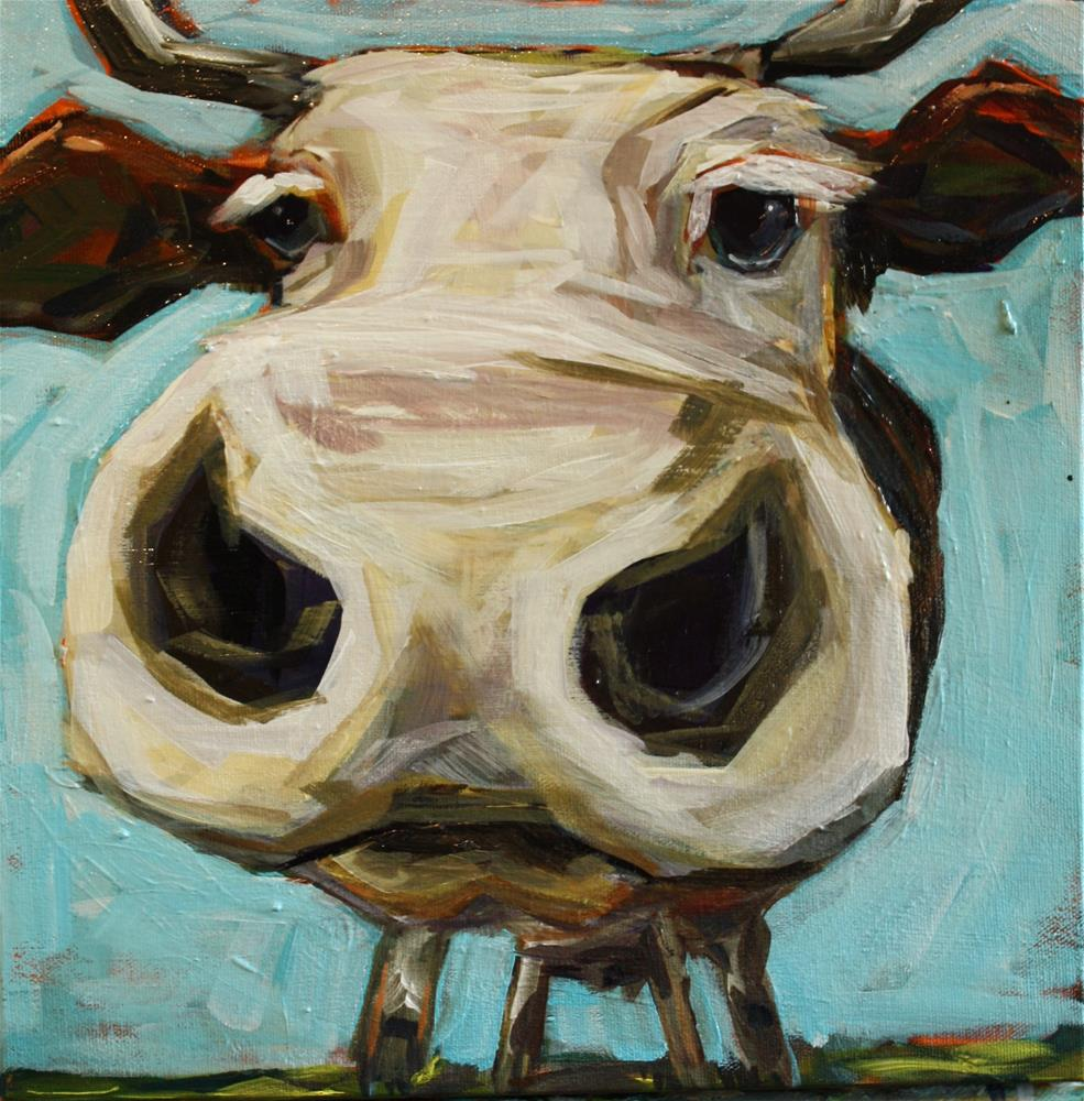 """First Bull"" original fine art by Kandice Keith"
