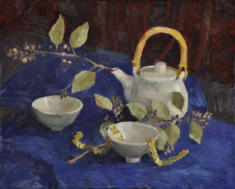 """Tea Set"" original fine art by Scott Harding"