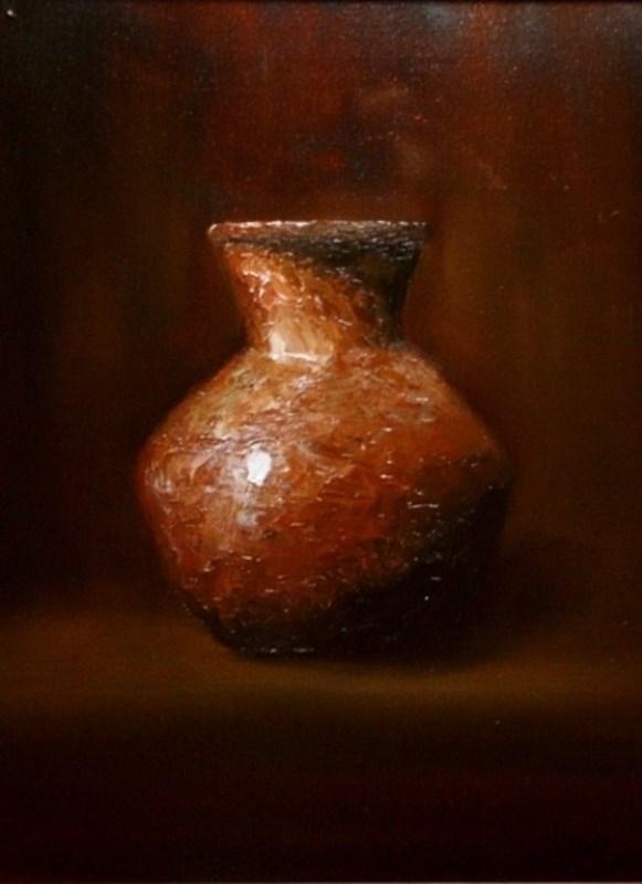 """Clay Jar"" original fine art by Mary Datum"