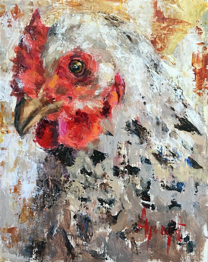 """Mother Hen"" original fine art by Anne Marie Propst"
