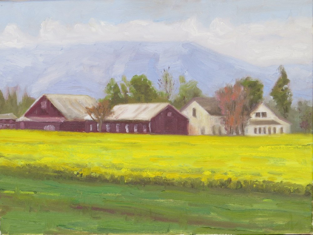 """Spring in the Willamette Valley"" original fine art by Richard Kiehn"
