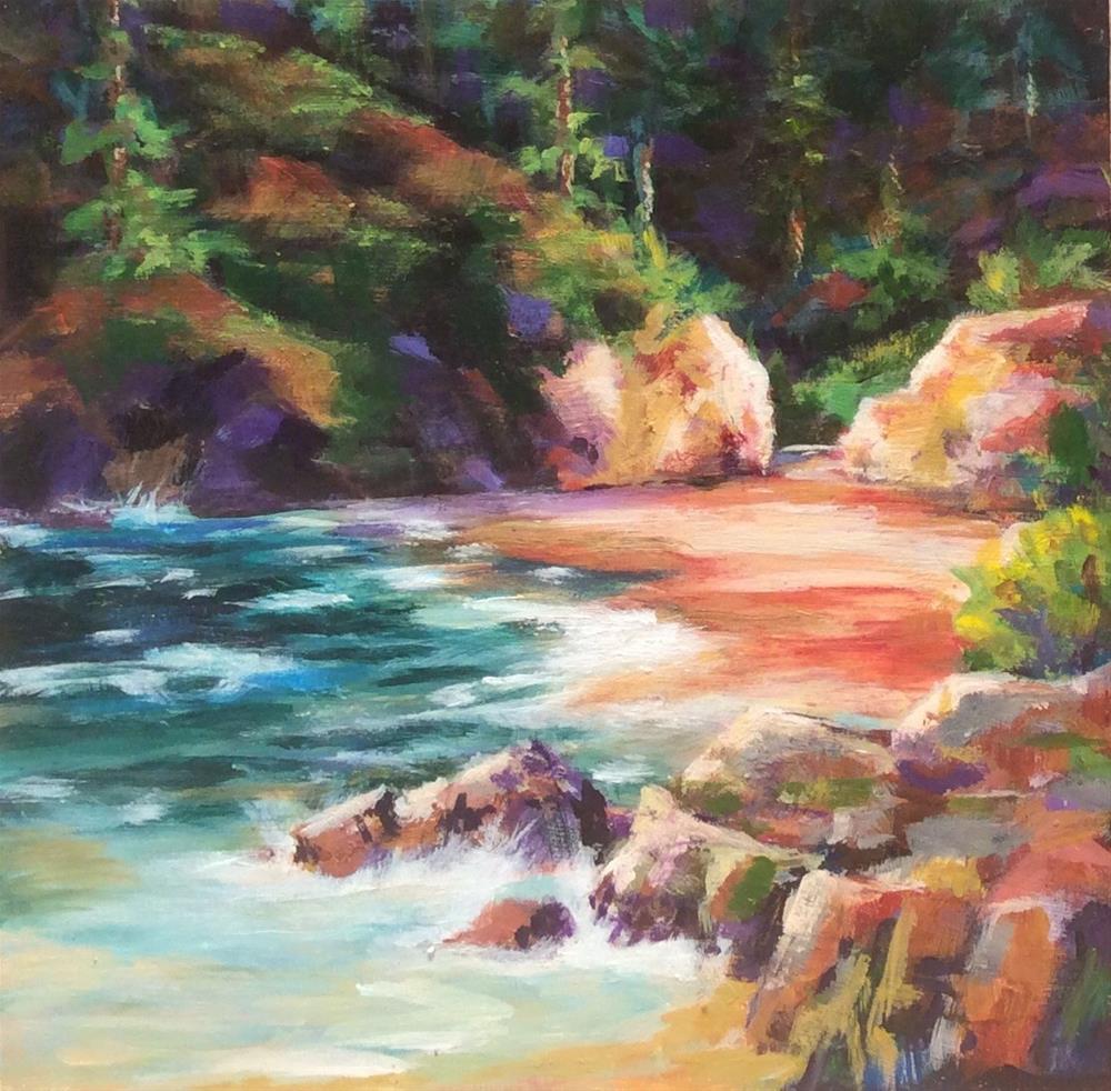 """""""Lagoon"""" original fine art by wendy black"""