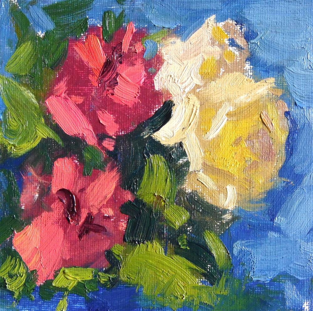 """Roses and Carnations "" original fine art by Michael Clark"