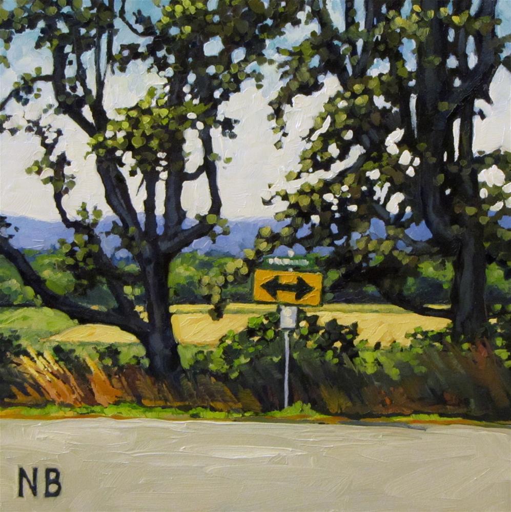 """The Back Way"" original fine art by Nora Bergman"