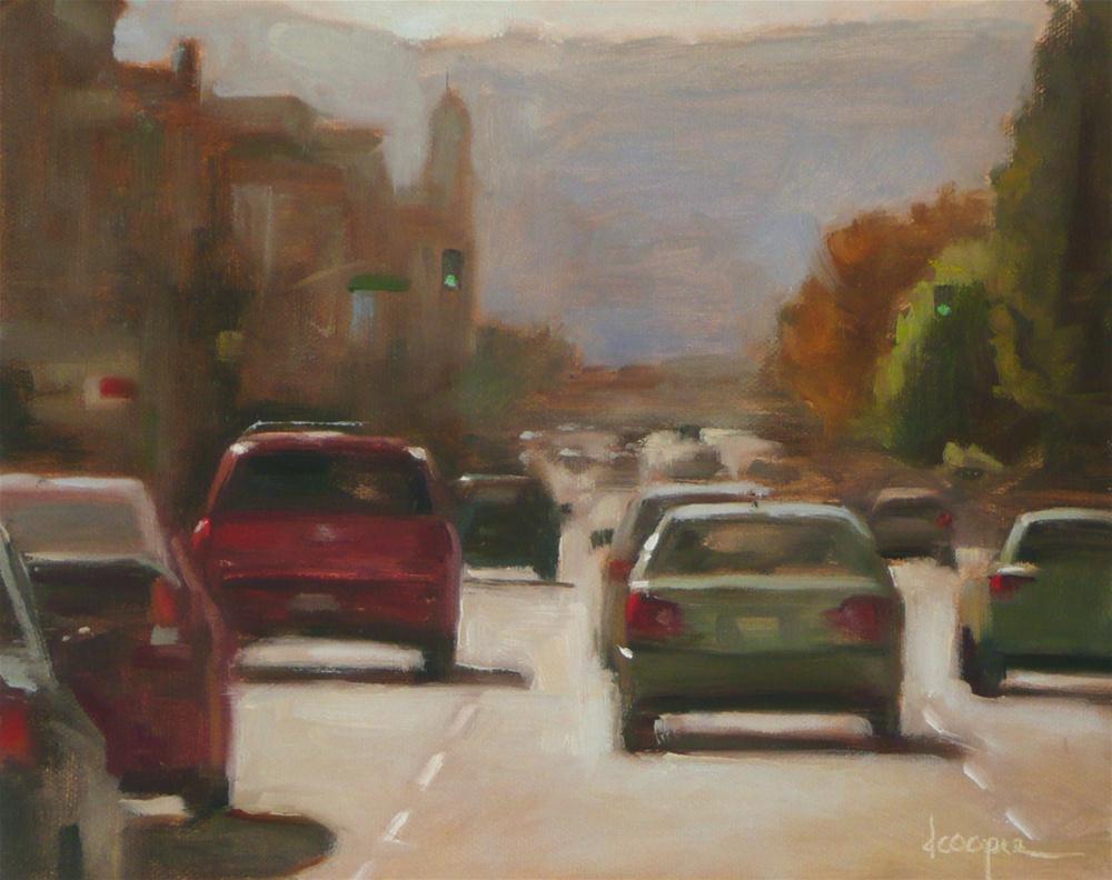 """Rush Hour"" original fine art by Dana Cooper"