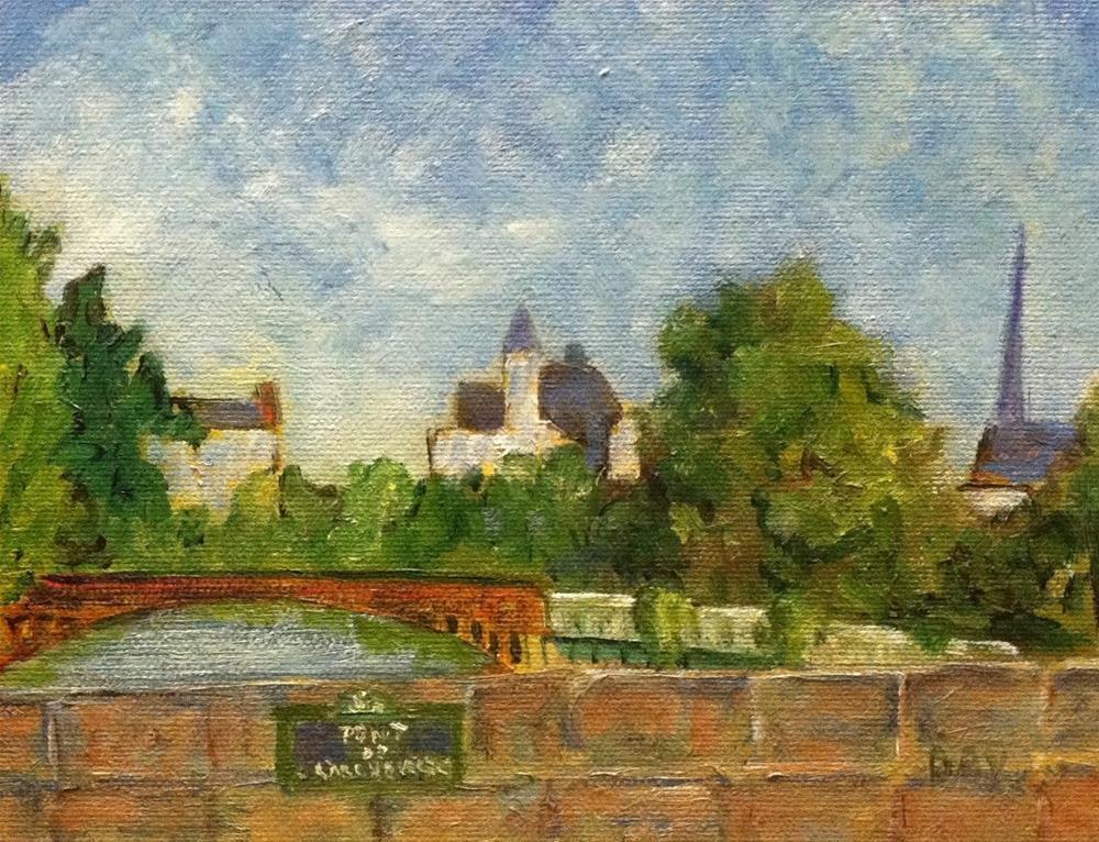 """VIEW FROM PONT DE L'ARCHEVECHE"" original fine art by barbara yongue"