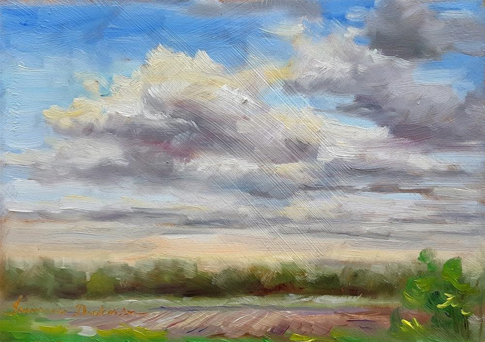 """Clouds Over the Pasture"" original fine art by Tammie Dickerson"