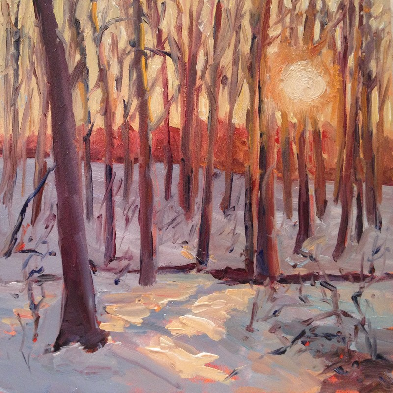 """Winter Woods II, Day 65"" original fine art by Claudia L Brookes"