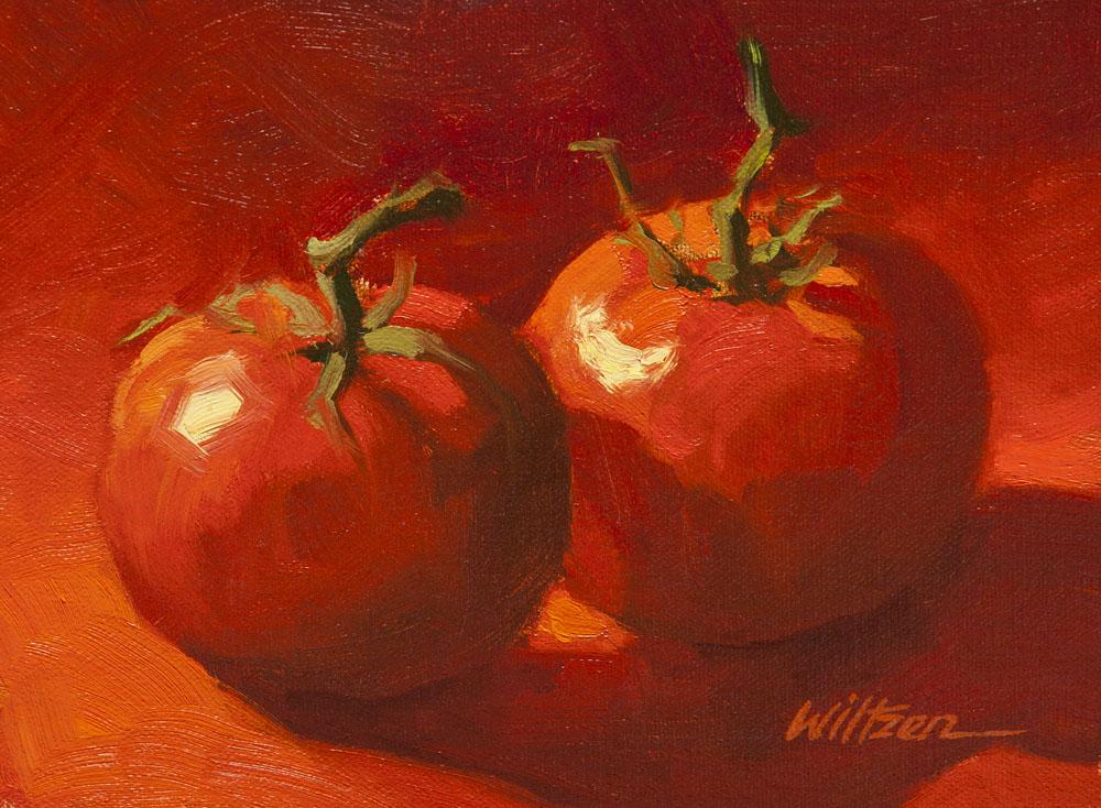 """Pair of Reds"" original fine art by Liz Wiltzen"