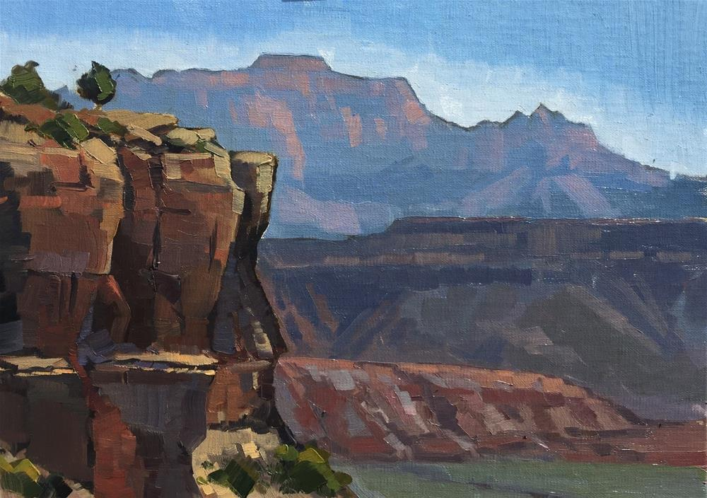 """View from Mesa Road, Kinesava in the Distance"" original fine art by Mary Jabens"