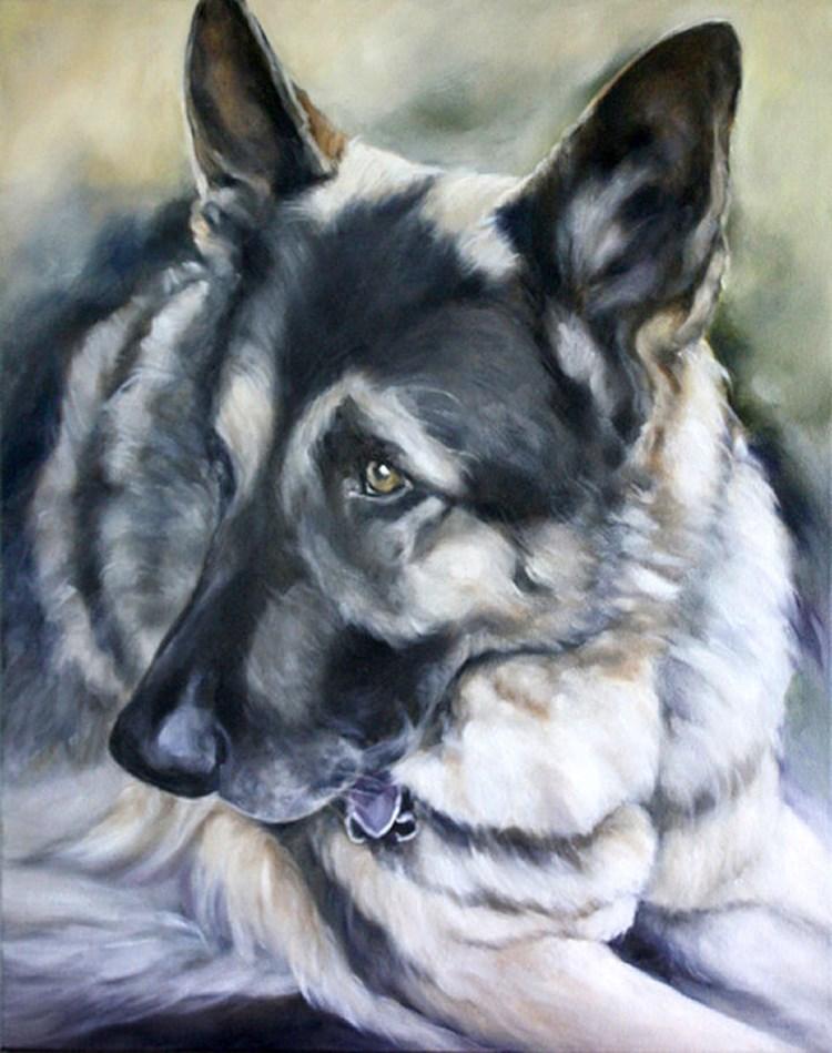 """A Good Shepherd"" original fine art by Carolyn McQuarters"