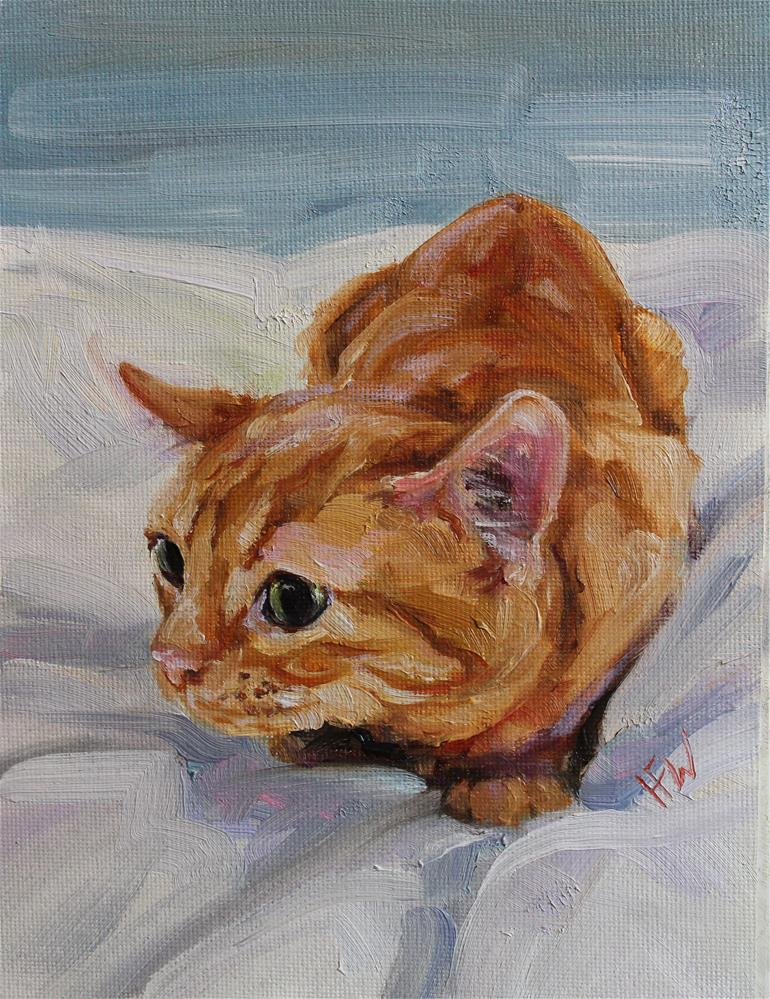 """Pounce in 1...2..."" original fine art by H.F. Wallen"