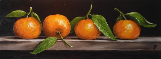 """Clementine quartet"" original fine art by Jane Palmer"