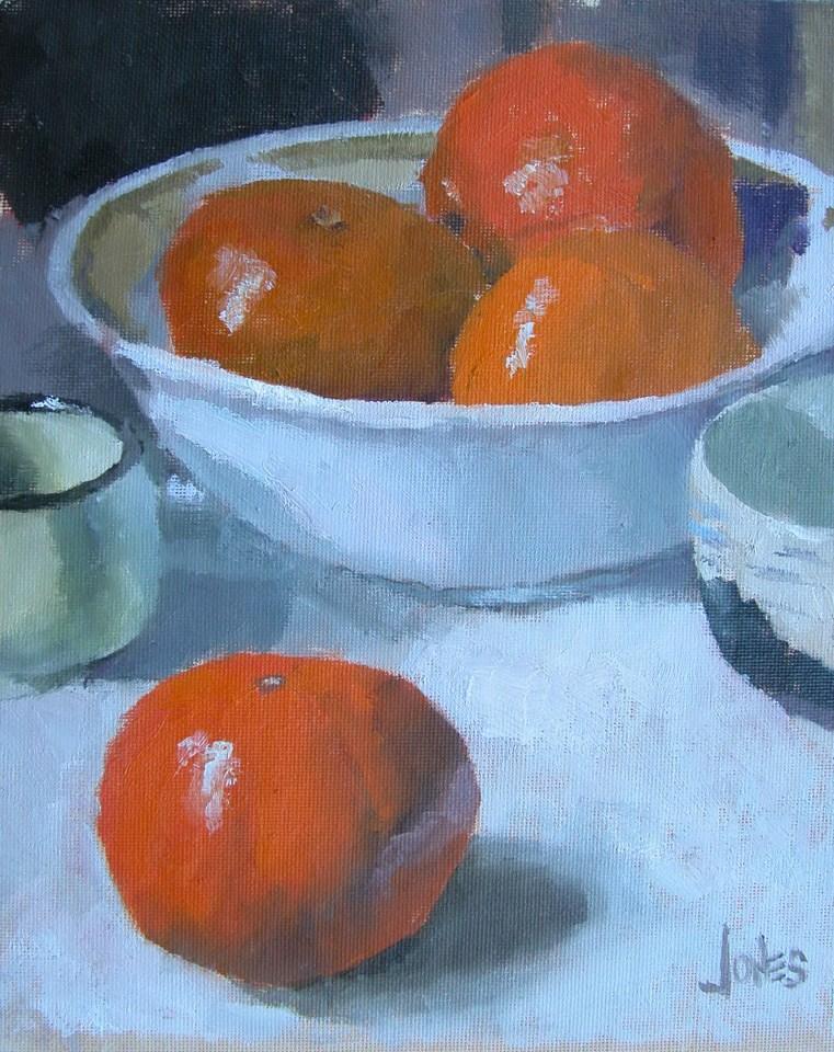 """Bowl of Tangerines"" original fine art by Richard Jones"