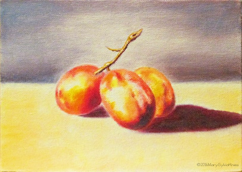 """Grapes-2"" original fine art by Mary Sylvia Hines"