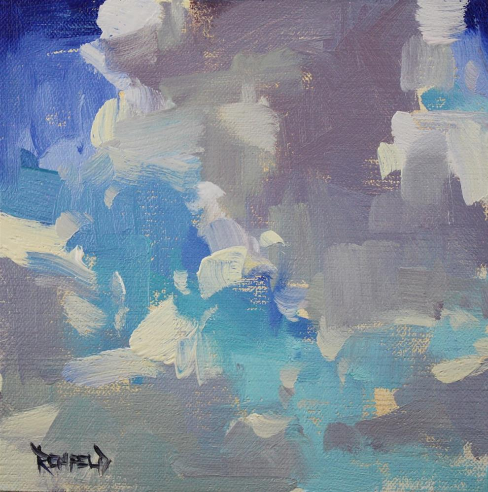 """Summer Clouds"" original fine art by Cathleen Rehfeld"
