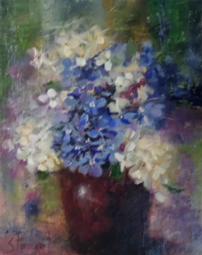 """Moody Blues"" original fine art by Kris Stewart"