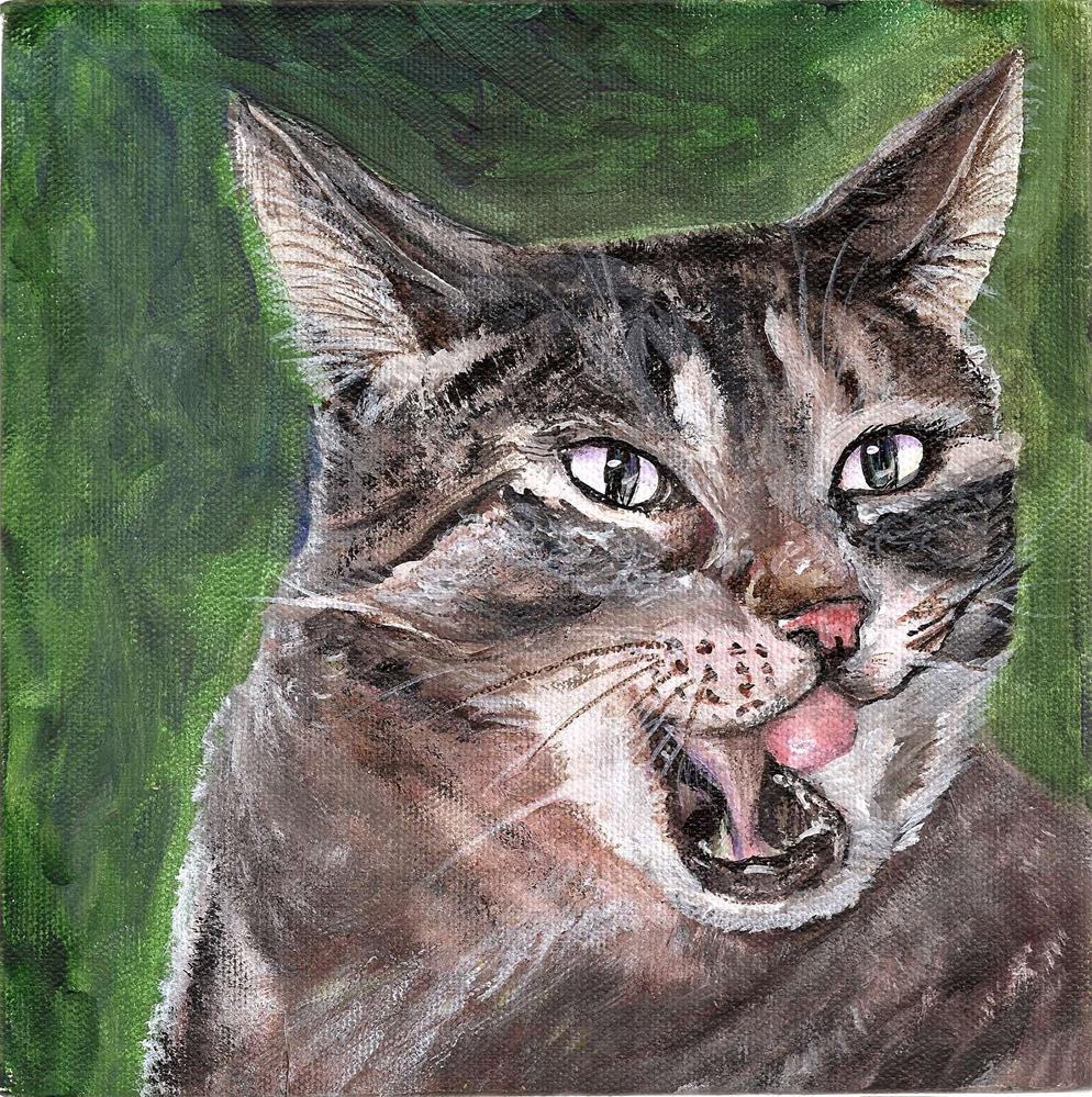"""""""Jojo The Cat 8 x 8"""" original fine art by Penny Lee StewArt"""