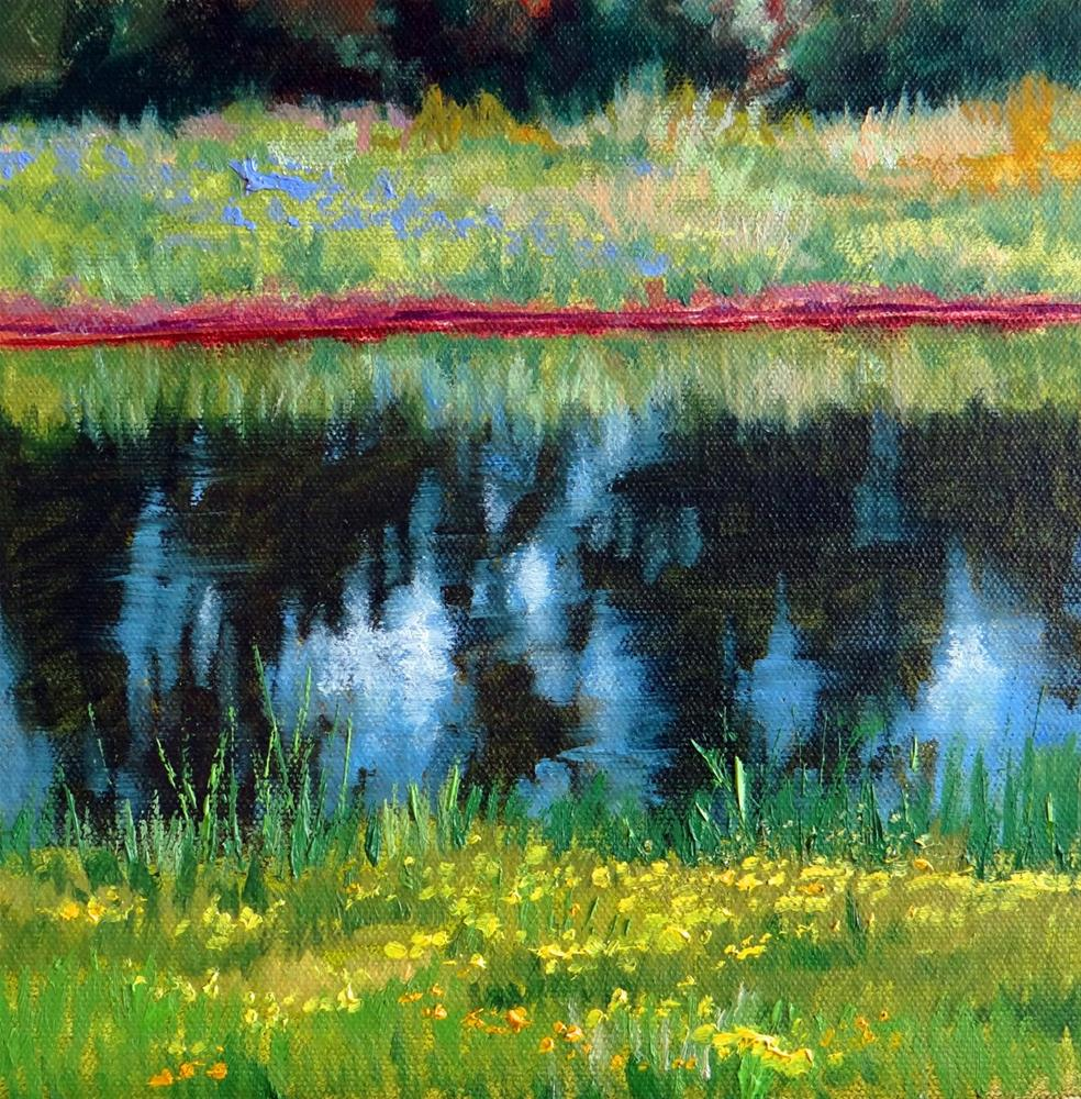 """Pond Reflections"" original fine art by Nancy Paris Pruden"