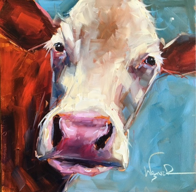 """BIG NOSE"" original fine art by Olga Wagner"