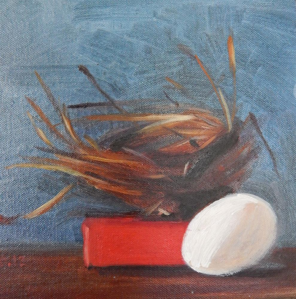 """Blue Nest"" original fine art by Megan Schembre"