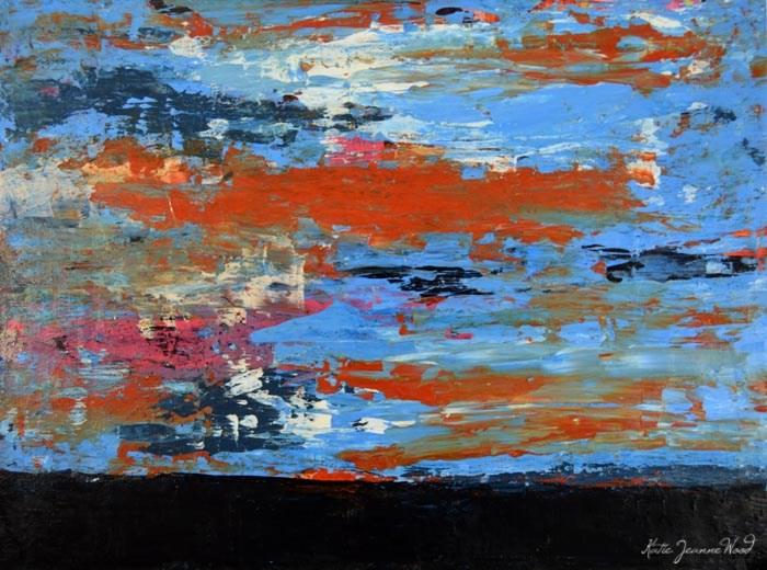 """Landscape Painting No 37"" original fine art by Katie Jeanne Wood"