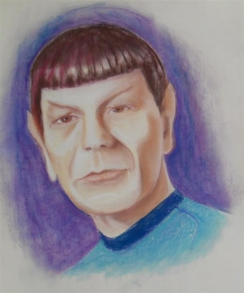 """Spock"" original fine art by Karen Roncari"
