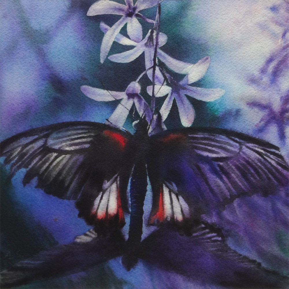 """Purple Dream"" original fine art by Arena Shawn"