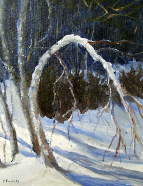 """Bowing Out"" original fine art by Patricia J. Powers"