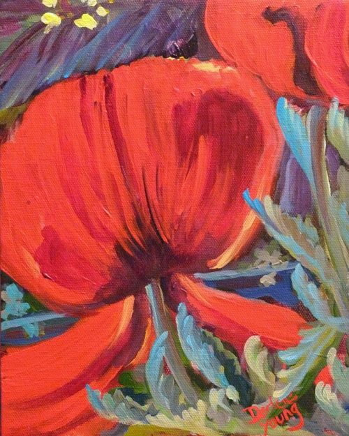 """Poppy Kiss"" original fine art by Darlene Young"