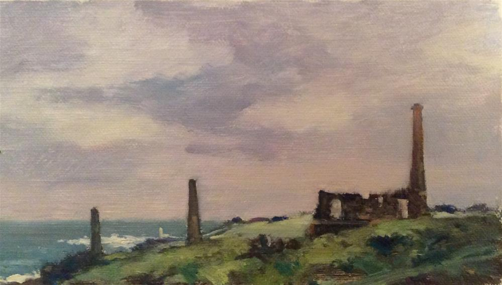 """Tin Mines Cornwall"" original fine art by John Shave"