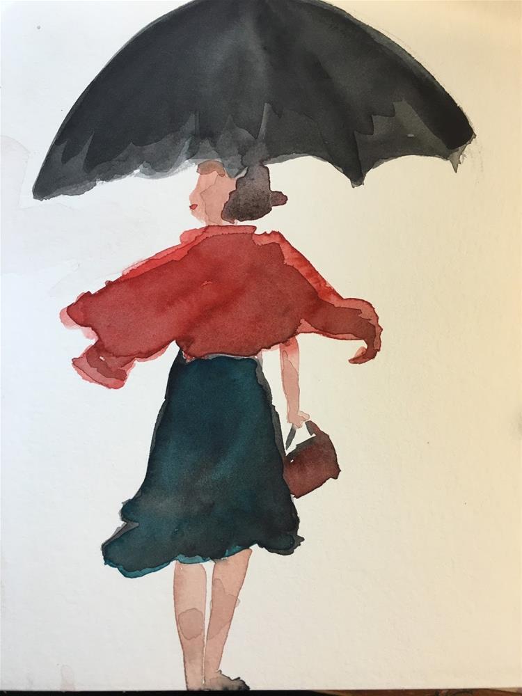"""#25 #30in30 - Fashion Diva"" original fine art by Kimberly Balentine"