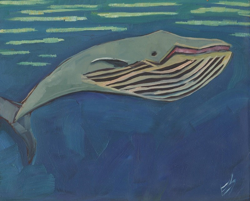 """Big Old Whale"" original fine art by Elizabeth See"